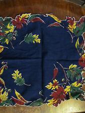 Vintage fall leaves hankerchief, hankie