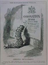 "7x10"" punch cartoon 1911 ARRESTED DEVELOPMENT coronation caterpilar"