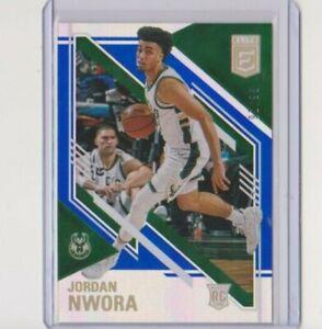 2020-21 Panini Elite Jordan Nwora Blue Rookie 91/99 Bucks RC