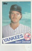 FREE SHIPPING-MINT-1985 Topps New York Yankees Baseball Crd #284 Marty Bystrom-2
