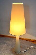 blanc pieds en bois Lampe de Table Lampadaire avec menthe écran