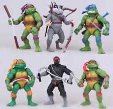 6pcs Teenage Mutant Ninja Turtles TV Movie Action Figures Classic Kids Toy Set