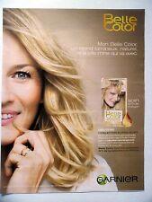 PUBLICITE-ADVERTISING :  GARNIER Belle Color  2014 Coiffure
