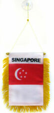 """Singapore Mini Flag 4""""x6"""" Window Banner w/ suction cup"""