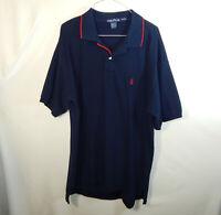 Nautica Mens Short Sleeve Regular Fit Polo Golf Shirt Blue Size EXTRA LARGE XL