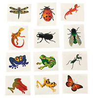 Insects & Reptiles Temporary Tattoos - Bugs Party Bag Fillers Pack Sizes 6 - 36