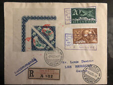 1925 Geneva Switzerland Swiss Aviation Day Cover # C6 C4 Semi Official Stamps
