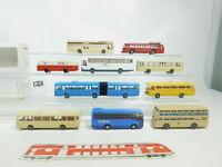BK75-1# 10x Wiking/Brekina H0/1:87 Bus: Büssing+MB O 303/321/305/404 etc