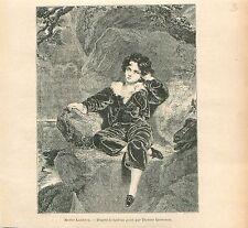 Master Lambton  Children Tableau de Sir Thomas Lawrence GRAVURE OLD PRINT 1914