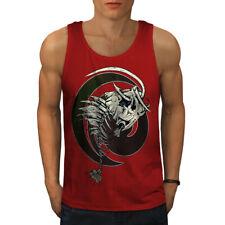 Wellcoda Fish Bone Skeleton Mens Tank Top, Tattoo Active Sports Shirt