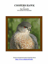 COOPERS HAWK - CROSS STITCH CHART