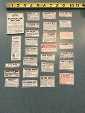 27 Old Pharmacy-Apothecary-Medic ine Bottle Labels Vintage Ephemera Diff Lot 12