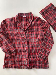 Brooks Brothers Flannel Pajama Set Plaid Men's Size Med Red Loungewear Medium