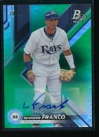 WANDER FRANCO AUTO 2019 Bowman Platinum Green #/99 Autograph Rays Rookie Card RC
