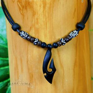 Surferkette Halskette Lederkette Hei Matau Maori Herrenkette Männerkette Mann
