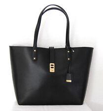 MICHAEL KORS Handtasche Neu 420€ Karson LG Leder-Shopper Bag schwarz black gold