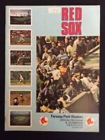 BOSTON RED SOX  vs  NY YANKEES  Official Program Vintage 1973 (Unscored)  M1407