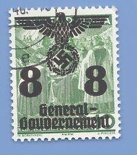 Germany Nazi Third Reich 1940 Occupation Poland Swastika Eagle 8 Stamp WW2 #3