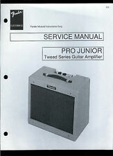 Copy Fender Pro Junior Tweed Series Guitar Amplifier Parts List & Schematic(s)
