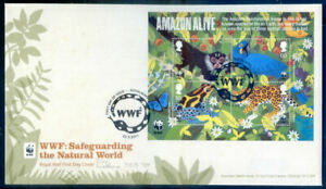 Great Britain 50th Anniversary of WWF Sheet on First Day Cover (2020/11/03#14)