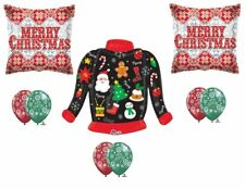 9pc UGLY SWEATER party BALLOON set B christmas HOLIDAY office CONTEST balloons