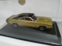 Oxford Diecast 87DC68002 Dodge Charger 1968 Gold and Black 1/87