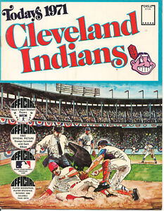Cleveland Indians Today's 1971 Official Dell Picture Stamps