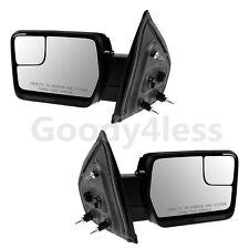 Chrome Cap For  07-14 F150 Pickup Door Side View Manual Mirrors LH RH PAIR SET