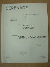 VINTAGE SHEET MUSIC - SERENADE - FROM THE STUDENT PRINCE