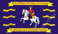 NORTHERN IRELAND KING WILLIAM OF ORANGE FLAG - HISTORICAL FLAGS - Size 5x3 Feet