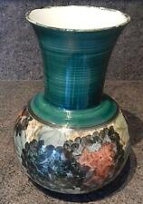 Large Hand Painted  Jersey Pottery Vase 26cm High