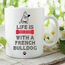 Novelty Funny French Bulldog Mug Printed Ceramic Cups Dog Lovers Gift WSDMUG477