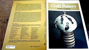 SHIRE ALBUM #18: CRAFT POTTERY / Thomas Plowman (1980)