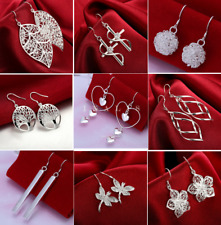 Wholesale 925 Silver Dangle Drop Earrings Stud Fashion Jewelry Women Xmas Gift