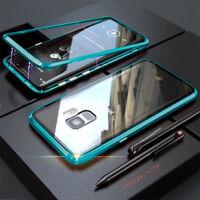 360° Magnet Case Für Samsung Galaxy S8 S9 S10 Plus Hülle Glas Metall Tasche