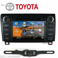 "2 DIN 7"" LCD Car DVD Player GPS Navigation BT For Toyota Tundra 2003-2013+Camera"