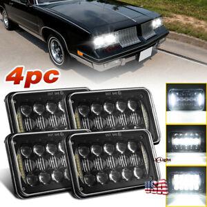 "4pcs 4x6"" Led Cree Headlight Hi/Lo Prejector for Oldsmobile Cutlass Supreme Car"