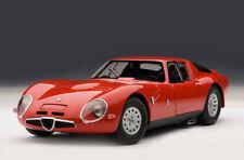 1:18 AUTOart Alfa Romeo TZ2 1965 Die Cast Model Red