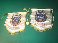 "2 PABST BLUE RIBBON EXTRA LIGHT BEER  BREWERY BANNERS (EACH 15"" BY 14"")"