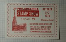 Sepad Philadelphia Stamp Show 1975 Christ Church Philatelic Souvenir Ad Label