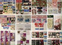 Job Lot Mixed Embellishments multi packs craft cards scrapbook topper TOP BRANDS