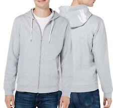 Lacoste Sleepwear Men's Grey Logo Applique Graphic Fleece Full Zip Hoodie
