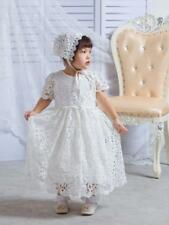 Newborn Baby Toddler Baptism Dress Over-length Embroidery Lace Christening Gown