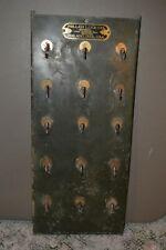 Antique Metal Miller Lock Marshall Wells Padlock Hardware Display Rack