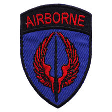 AIRBORNE Tab Tactical Embroidered Iron On US Military  Patch P109