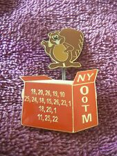 OOTM New York pin odyssey of the mind beaver popping out of a box OotM