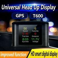 Car GPS HUD Head Up Display Satellites Speed Speedometer Digital For All Cars