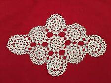 "White 8.5X13"" Crochet Doilie"