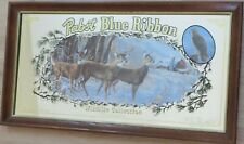 Whitetails - Pabst Blue Ribbon Beer Mirror (1991 Wildlife Collection)