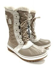 Sorel Tofino II LUX US 10 Boots Tan Waterproof Shearling Lined Women's